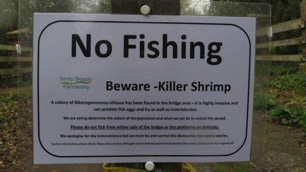 no fishing signs rollesby broad