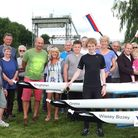 West Norfolk rowers with their new boats. Picture: Submitted.