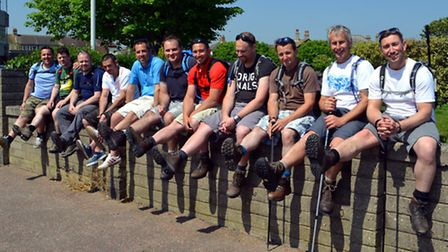 BEST FOOT FORWARD: The group of ten who will embark on the Three Peaks Challenge. Organiser Mike Til