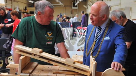 High Sheriff of Norwich William Armstrong on his first official engagement opening the Shed, Beckham