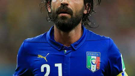 Italy's Andrea Pirlo during the win over England.