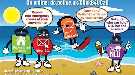 Perhaps not enough people understand that 'WebChat' and the 'contact us' form on the police website