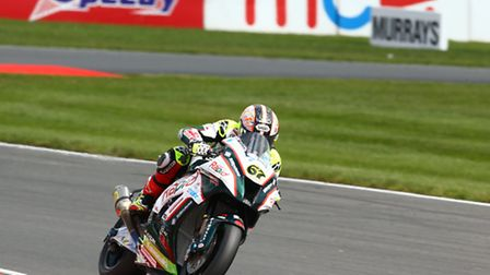 Rapid Solicitors Kawasaki's Shane Byrne found Snetterton to his liking during Friday's free practice