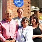 Great Yarmouth Local History & Archaeological Society 'blue plaque' unveiling at the site of the ho
