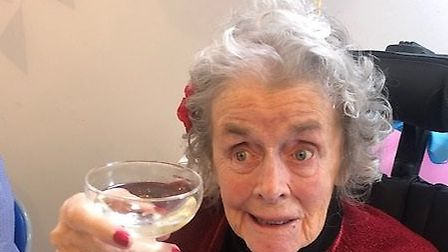 Madeline Bullock celebrated her 90th birthday at Bay Court Residential and Nursing Home. Picture: An