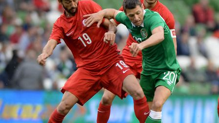 Norwich City midfielder Wes Hoolahan was part of the Republic of Ireland line up hammered 5-1 agains