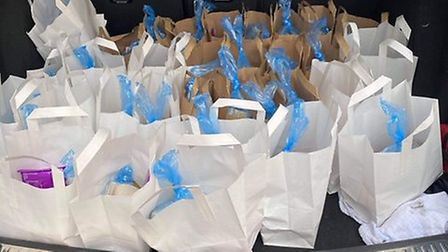Lunches for children prepared at Bayleaf in Exmouth. Picture: Fran Mcelhone