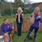 Reception teachers Lisa Broad, Pam Teed and Poppy Evans were among those to receive a pack