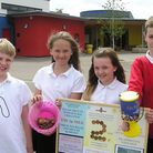 Bure Valley School pupils helping with the 2p collection for the Royal British Legion Women's sectio