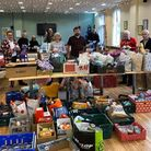 More than 100 hampers were given out for Christmas in 2019. Picture: Tim Chappell