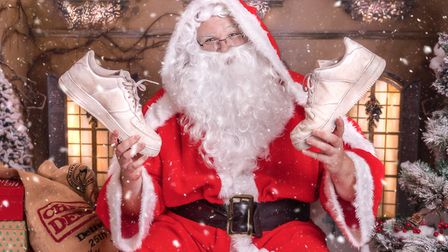 Santa getting ready for the CHSW event. Picture: Children's Hospice South West