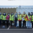 The Exmouth flu vaccination drive-through. Picture: Dr Barry Coakley
