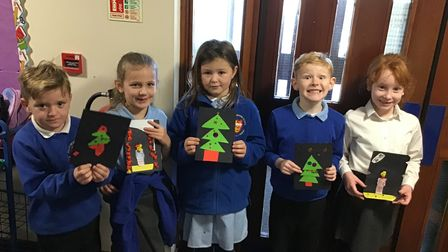 Methwold pupils in year 1 & 2, pictured: Levi, Isla, Brooke, Jack & Hermione.
