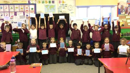 Pupils from the Oaks Class at Woodton Primary School