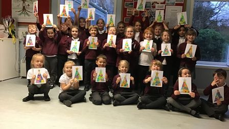 Pupils from the Willow Class at Woodton Primary School
