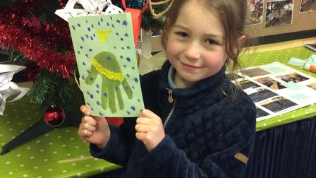 Cards designed by pupils atWeasenhamChurch of England Primary Academy, near King's Lynn.