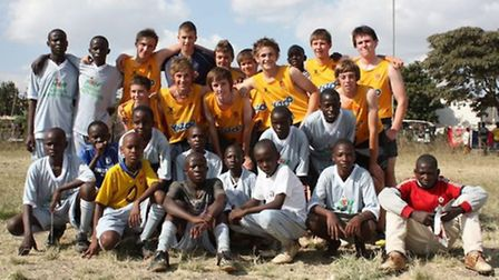 Students on a recent visit to Kenya.