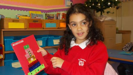 St George's Primary Christmas cards
