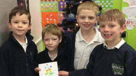 Children in St Williams nursery, reception, Year 1, 2, 3 and 4 all helped make the cards.