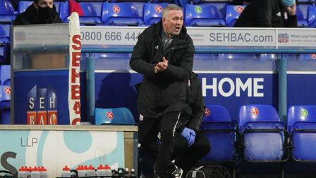 Paul Lambert, pictured during Ipswich Town's loss to Portsmouth