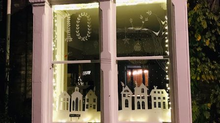 The window on Park Lane, Norwich, marking December 10th for the Advent trail.