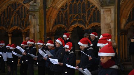 The Carols in the Cloisters concert, at Norwich Cathedral, was a smaller, socially-distanced version of the traditional...