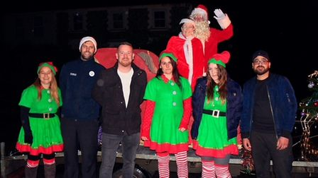 Local business owners and employees who helped the create a Christmas event in Sporle