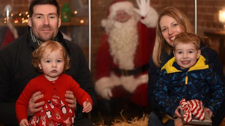 Visits to see Santa were a little different this year