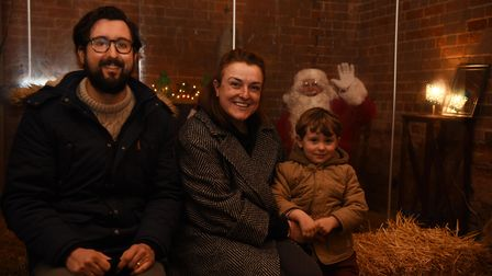 Families meet with Santa in Nowton Park
