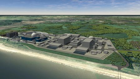 How Sizewell C with its twin reactors could look alongside plants A and B on Suffolk's coast