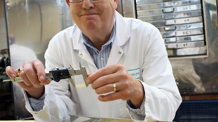Measuring up: Gary Thurlow in Pasta Foods' research and development department