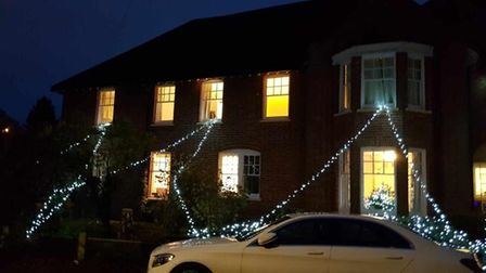 Stowmarket, care home, Christmas decorations