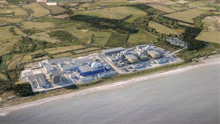A CGI of what the Sizewell C nuclear power station will look like