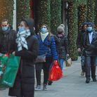 Shoppers on Oxford Street in London, as non-essential shops in England open their doors to customers