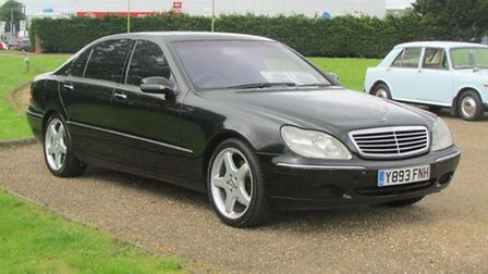 A Mercedes formerly owned by David Beckham failed to sell in King's Lynn.
