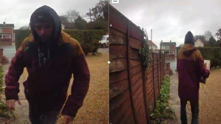 Police have released images of a man appearing to steal parcels from a doorstep
