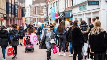 Primark was a popular choice with shoppers seeing queues all the way up the high street. Picture: