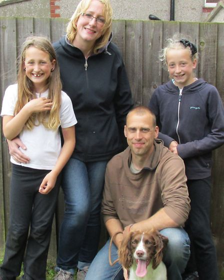 Sarah and Richard Eddy with Hattie and their children Isla and Freya Picture: Richard Eddy