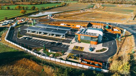 Gridserve opens the UK?s first Electric Forecourt opens adjacent to Great Notley, just off the A131. Picture: GRIDSERVE