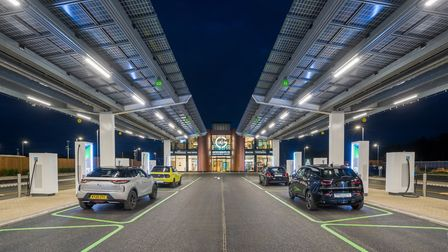 Gridserve opens the UK?s first Electric Forecourt opens adjacent to Great Notley, just off the A131. Picture: GRIDSERVE /...