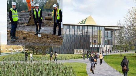 A ceremonial spade in the ground event has marked the start of construction of ARU Peterborough, the city's new £30...