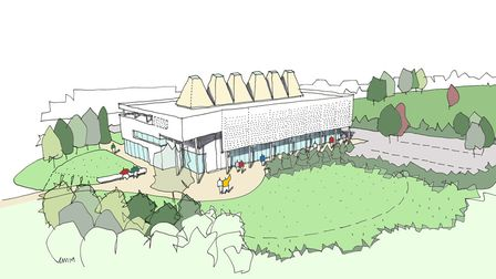 ARU Peterborough is set to open in September 2022. An artists impression is pictured. Picture: CPCA