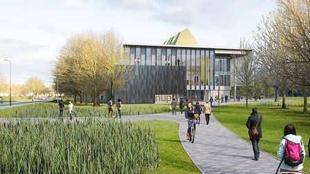 This is how the new University of Peterborough may look. Picture: CPCA