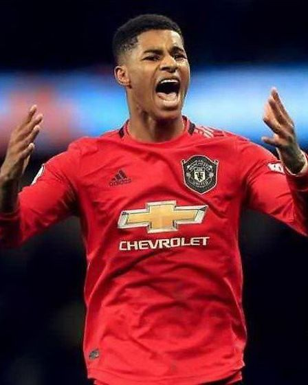Casey Logan of March Town FC, inspired by Marcus Rashford's campaign (pictured) has teamed up with the March and...