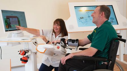 Askham Rehab supports its rehabilitiation patients with state-of-the-art robotics. Picture: Supplied