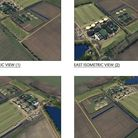 Some of the 3-D views put forward by Pretoria Energy as they seek planning permission to extend the AD plant at Mepal.