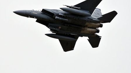 A pair of US fighter jets narrowly missed two gliders and had to take emergency action to avoid a mid-air collision at...