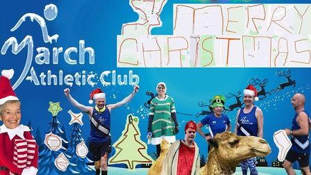 March Athletic Club runners decided to make an e-card for Christmas, with some creating a tree, star, baubles, a candle, a...