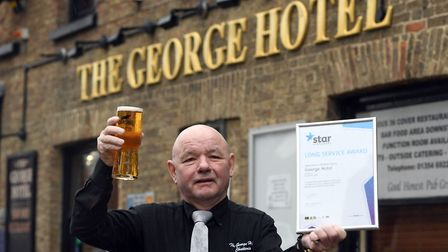 Licensee of George Hotel in Chatteris Robbie Lyons has scooped a long service award to mark his 20th anniversary at the...