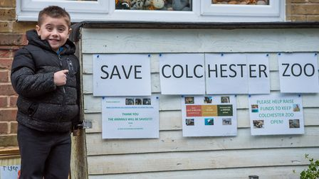TJ Rose of Great Dunmow has been raising money for Colchester Zoo. Picture: SAFFRON PHOTO